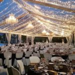 lightning and decoration for in a marquee hire