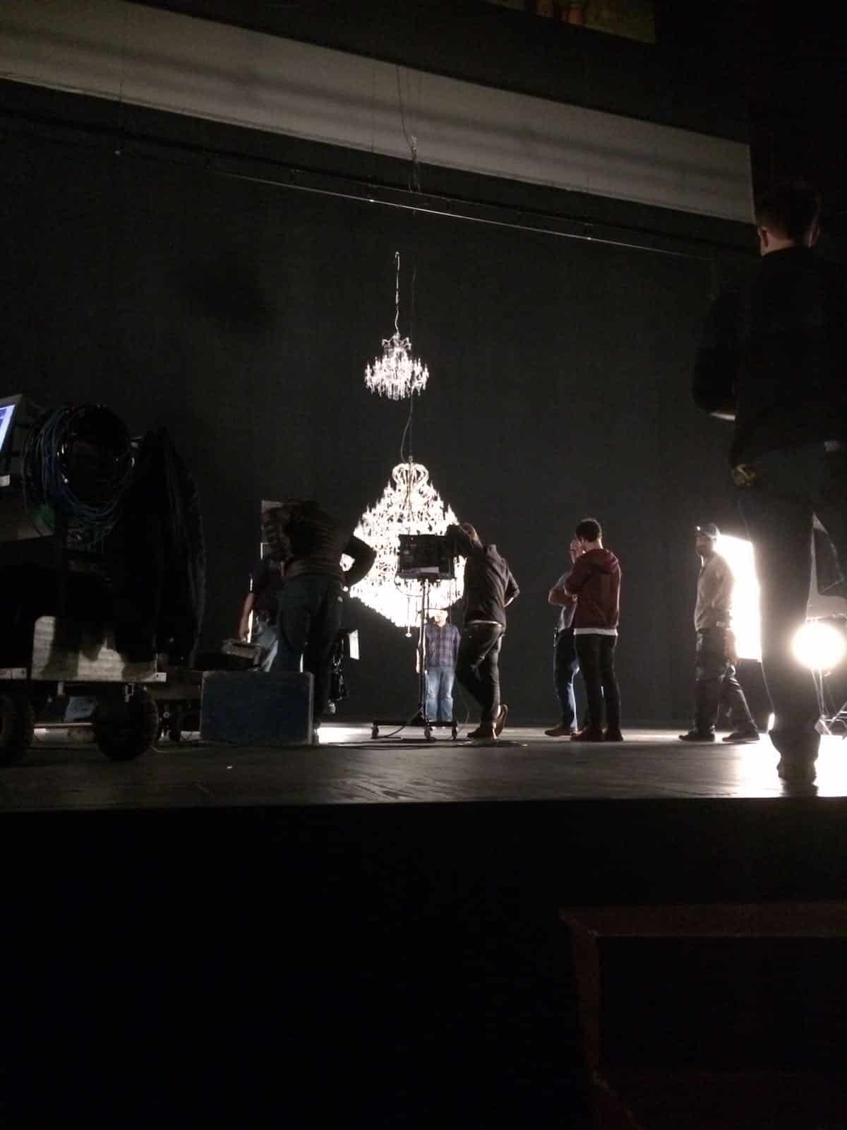 Decoration for film with wonderful chandeliers